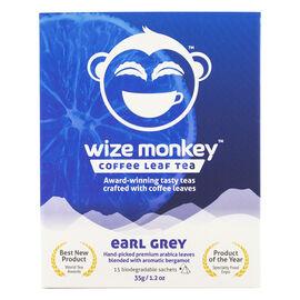 Wize Monkey Coffee Leaf Tea - Earl Grey - 15 Pouches