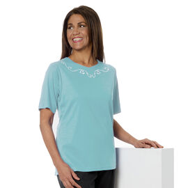 Silvert's Women's Embroidered Open-Back Shirt - 2XL - 3XL