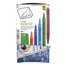 Derwent Graphik Line Painter - Assorted - 4 pack