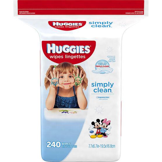 Huggies Simply Clean Wipes - Refill - 240's