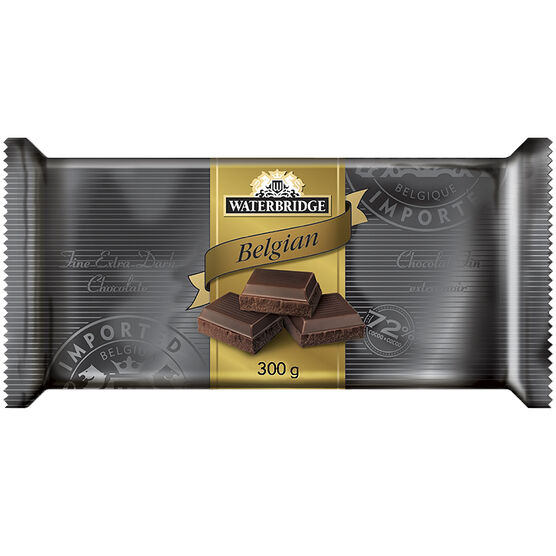 Waterbridge Chocolate Bar - Extra Dark Chocolate - 300g