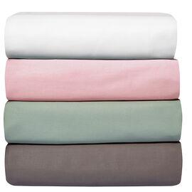 Organic Flat 350 Thread Count Sheets - Queen - Assorted