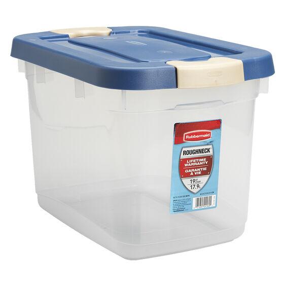 Rubbermaid Roughneck Latch Box - Clear - 18L