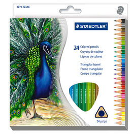 Staedtler Triangular Coloured Pencils - 24 Pack