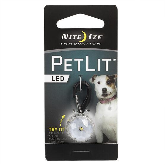 Nite Ize PetLit Collar Light - Crystal White