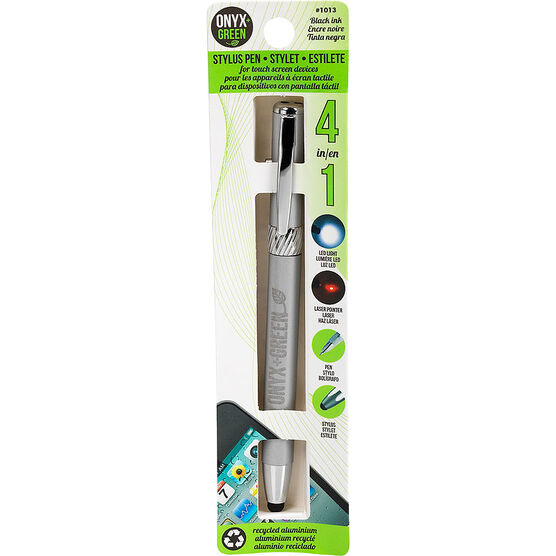 Onyx + Green 4-in-1 Stylus Pen