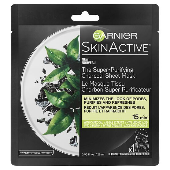 Garnier SkinActive The Super Purifying Charcoal Sheet Mask -28ml