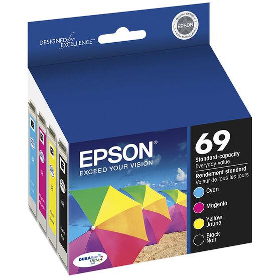Epson 69 Durabrite Ultra Ink 69 Standard-Capacity Ink Cartridge - Colour Multi-pack - T069120-BCS