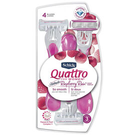 Schick Quattro for Women High Performance Disposable Razors - 3 pack