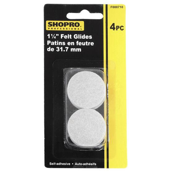 Shopro 31.7mm Self-Adhesive Felt Glides - 4's