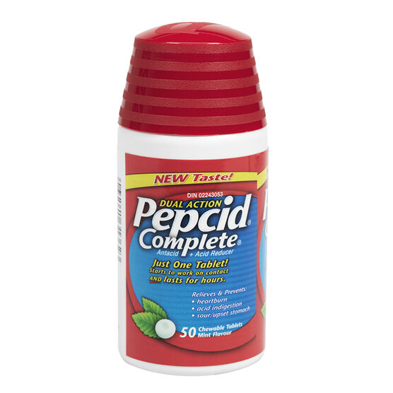 Pepcid Complete Acid Reducer + Antacid with Dual Action - 50's