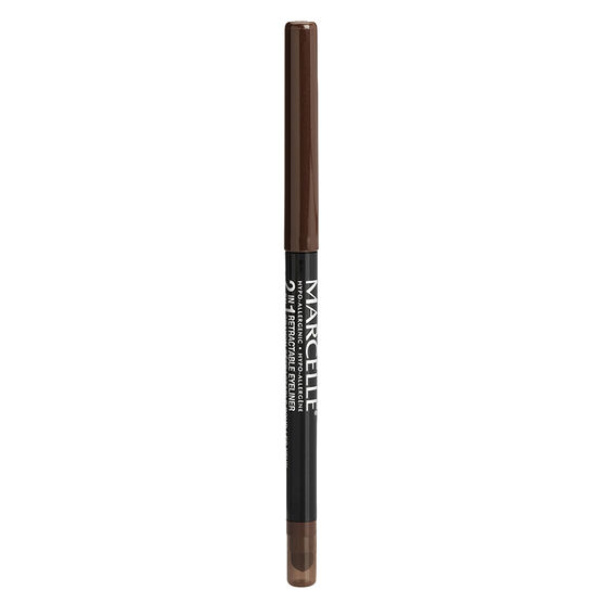 Marcelle 2-in-1 Retractable Eyeliner or Liquid Eyeliner Pen - Brown