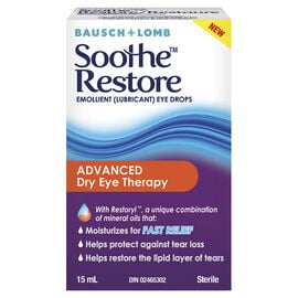 Bausch and Lomb Sooth Restore Advanced Dry Eye Therapy Drops - 15ml