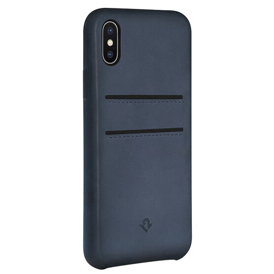 Twelve South Relaxed Leather Case with Pockets for iPhone X - Indigo - TS121740