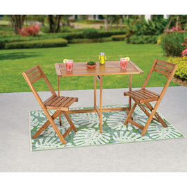 Brema Caribbean Acacia Wood Balcony Set - 3 piece