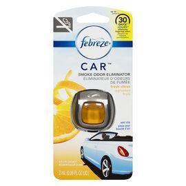 Febreze Car Smoke Odour Eliminator Vent Clip - Fresh Citrus - 2ml