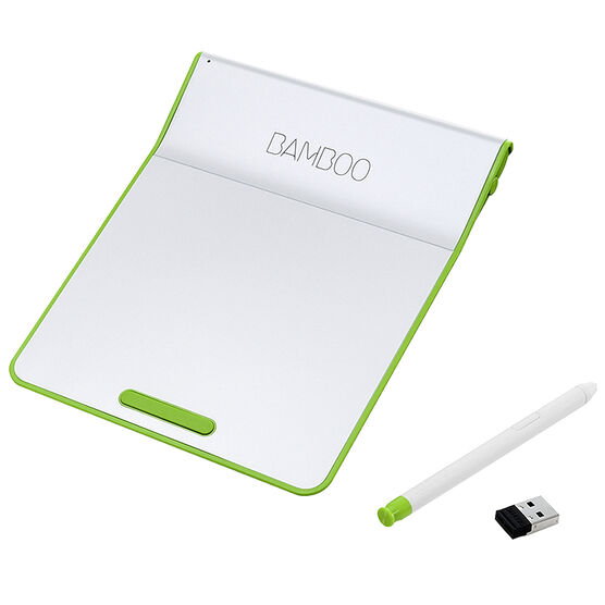 Wacom Bamboo Pad Wireless Tablet with Pressure-Sensitive Stylus - Green - CTH300E
