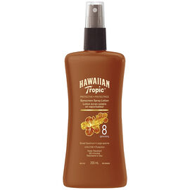 Hawaiian Tropic Pump Sunscreen Spray Lotion - SPF8 - 200ml