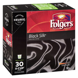 K-Cup Folgers Coffee - Black Silk - Dark Roast - 30 Pack