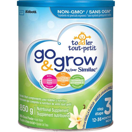 Similac Go & Grow Step 3 - Vanilla Flavour - 850g - 0S873301
