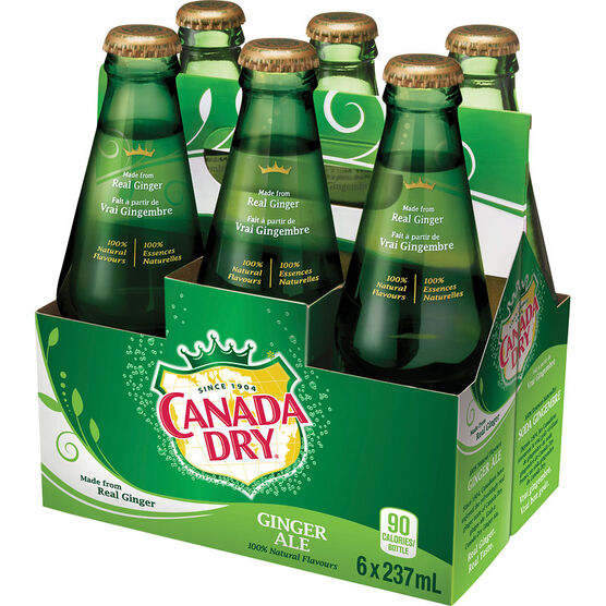 Canada Dry Ginger Ale - 6x237ml