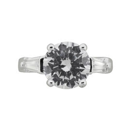 Puccini Cubic Zirconia Round Centre Ring - Size 7