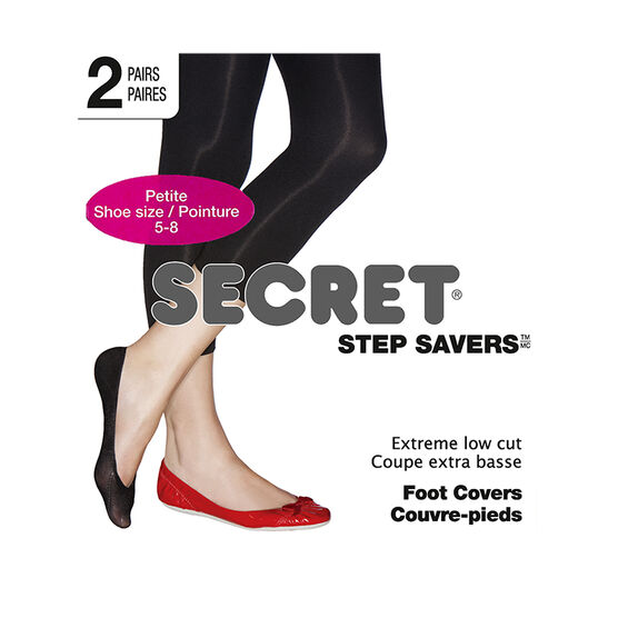 Secret Foot Cover Petite Low Cut - Nude - 2 pair