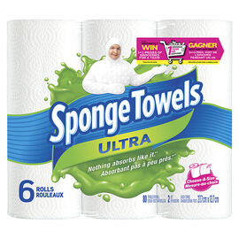 SpongeTowels Ultra Choose-a-Size Paper Towels - 6 rolls