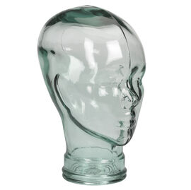 London Drugs Green Glass Cabeza Head - 29cm