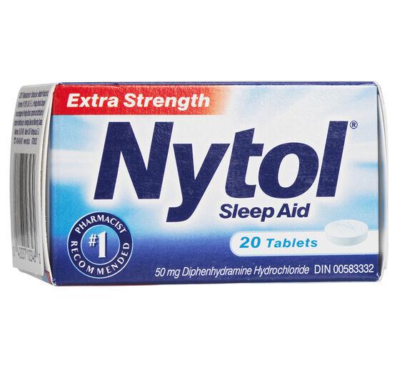 Nytol Extra Strength Sleep Aid Tablets- 50mg - 20's