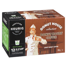 K-Cup Donut House Coffee - Light Roast - 12 Servings
