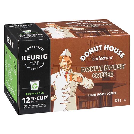 K-Cup Donut House Coffee - Light Roast - 12 Servings