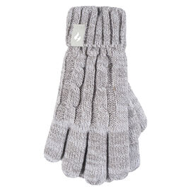 Heat Holders Girl's Cable Gloves - Oat