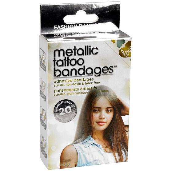 Metallic Tattoo Bandages - 20's