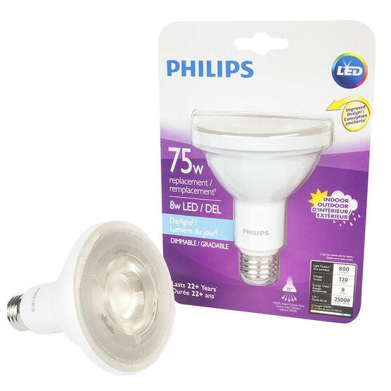 Philips LED PAR30 Lightbulb - Daylight - 8w/75w