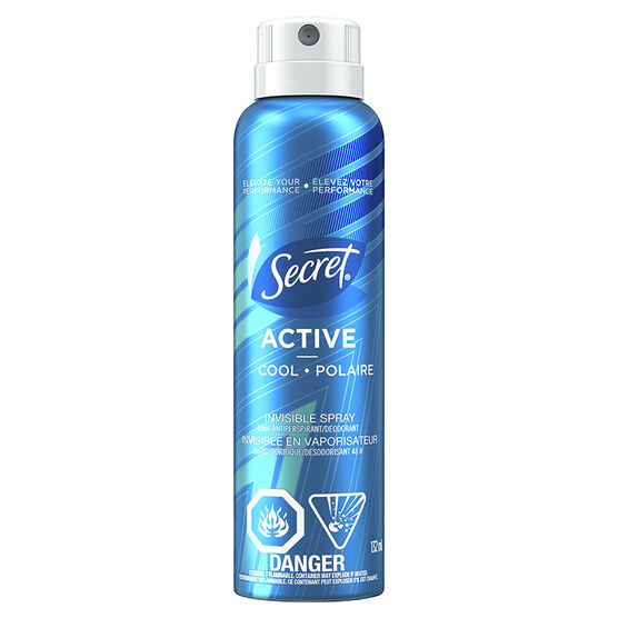 Secret Active Invisible Spray Antiperspirant - Cool - 132ml