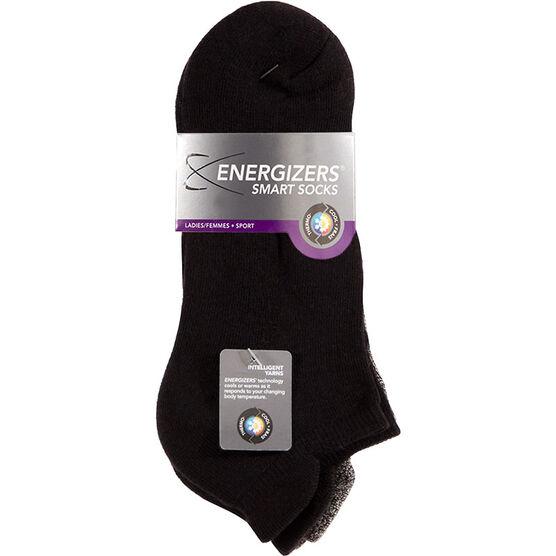 Energizers Cushion Ladies Low Cut Sport Socks - 2 pairs - Black
