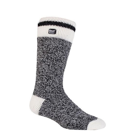 Heat Holders Men's Lite Cream Block Twist Sock - Black