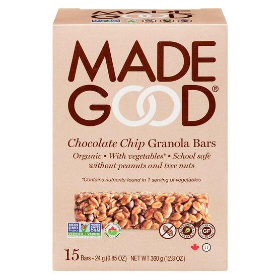 Made Good Granola Bars - Chocolate Chip - 15 pack