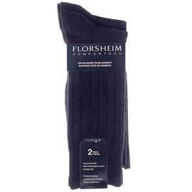Florsheim Men's Crew Socks - Black - 2 pair