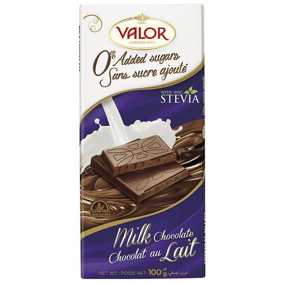 Valor Milk Chocolate - No Sugar - 100g