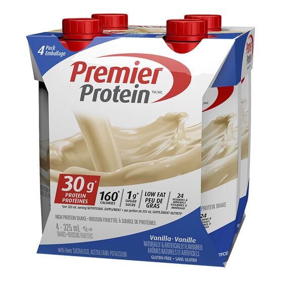 Premier Protein High Protein Shake - Vanilla - 4 x 325ml