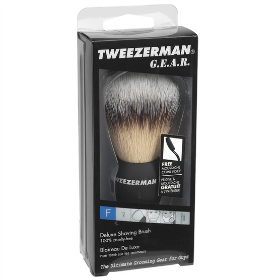 Tweezerman G.E.A.R. Deluxe Shaving Brush - 28011-MG