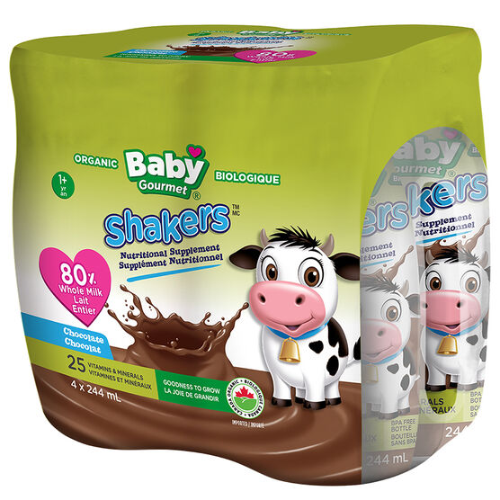 Baby Gourmet Shakers - 4x244ml - Chocolate