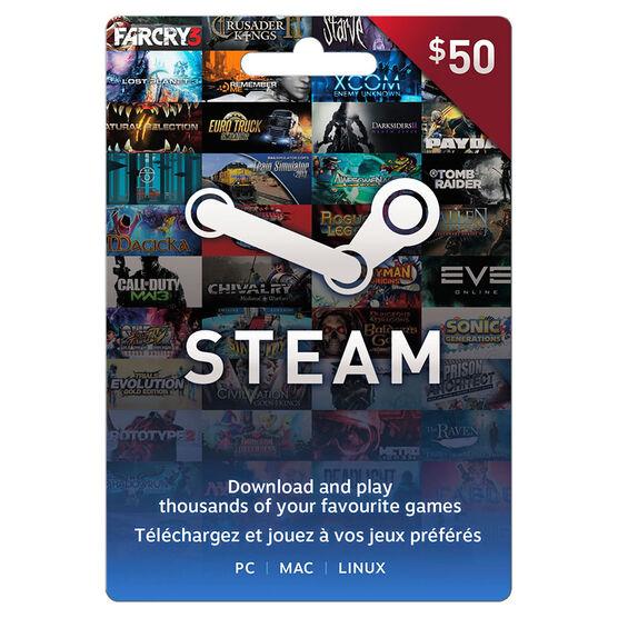 Valve Steam FastCard - $50