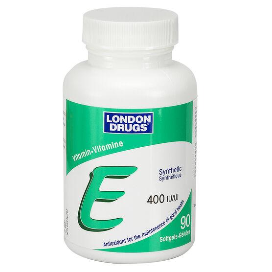 London Drugs Vitamin E Softgels - 400iu - 90's