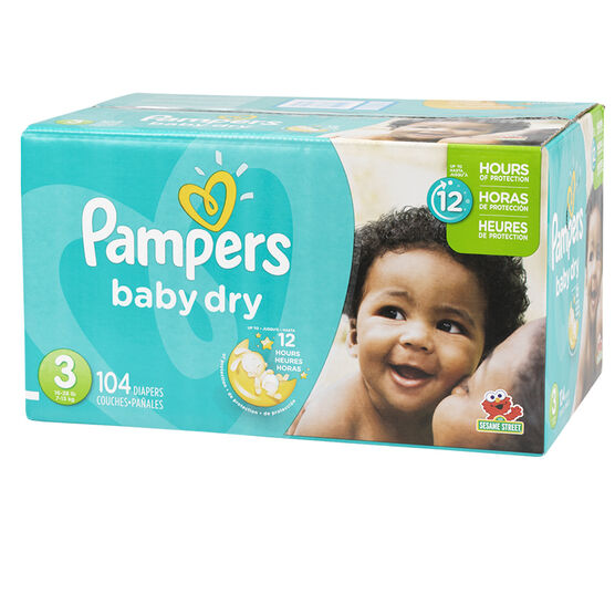 Pampers Baby Dry Diapers - Size 3 - 104's