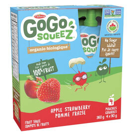 Gogo Squeez Strawberry Applesauce - 4 x 90g