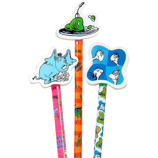 Dr. Seuss Character Pencil with Giant Eraser - Assorted