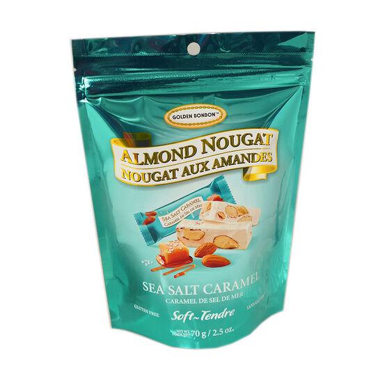 Golden Bonbon Almond Nougat - Sea Salt Caramel - 70g